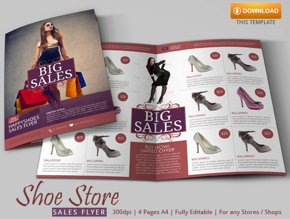 Shoe Store Flyer Template By Blogankids On Deviantart