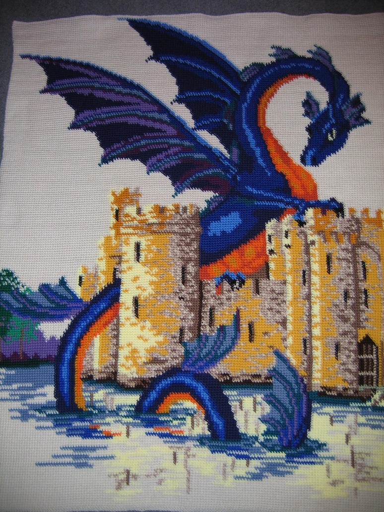 Crochet Dragon blanket by jetsmillion