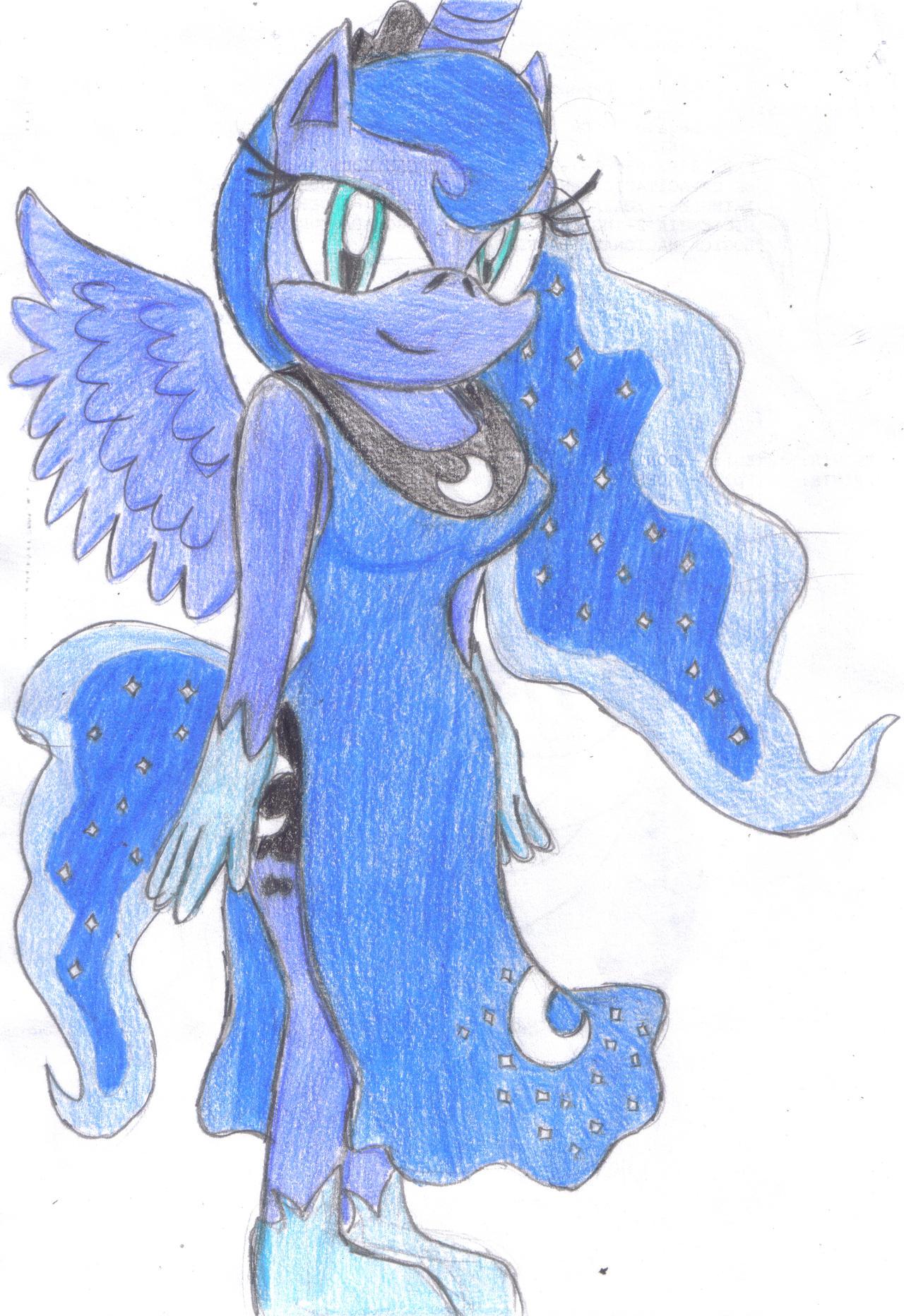 Princess Luna - Sonic Style by JCMX