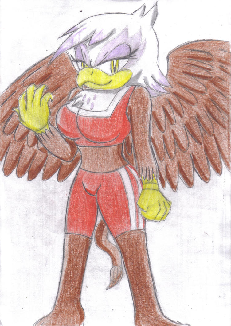 Gilda The Griffon in Sonic Style by JCMX