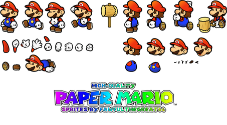 High Quality Paper Mario sprites by Fawfulthegreat64