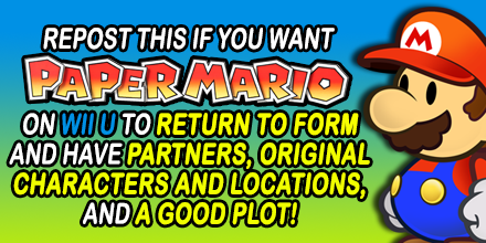 Repost this if you want Paper Mario good again! by Fawfulthegreat64