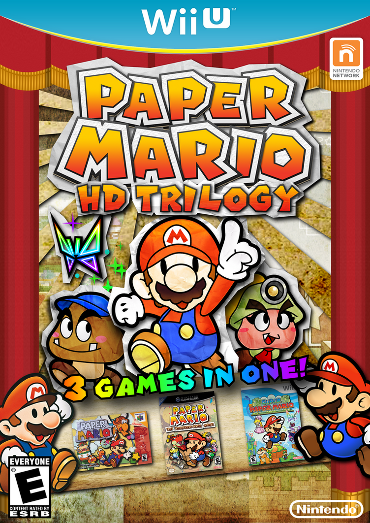 paper mario hd trilogy by fawfulthegreat64 on deviantart