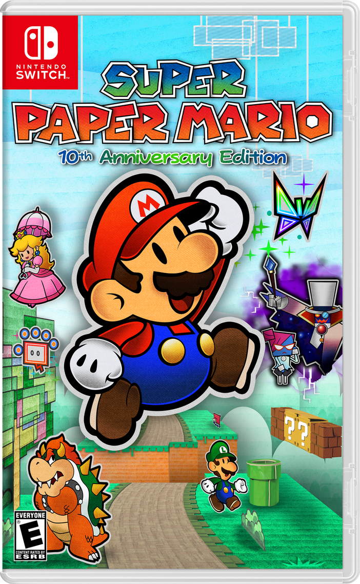Super Paper Mario 10th Anniversary Edition Switch By