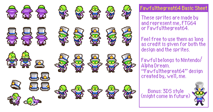 Fawfulthegreat64 Basic Sprite Sheet by Fawfulthegreat64
