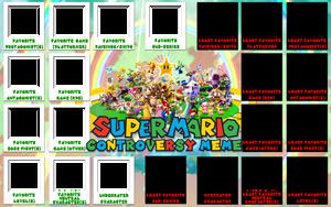 Super Mario Controversy Meme Template
