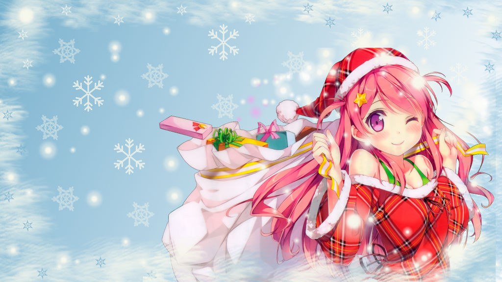 Anime Christmas Wallpaper.Anime Christmas Wallpaper By Chihahime On Deviantart