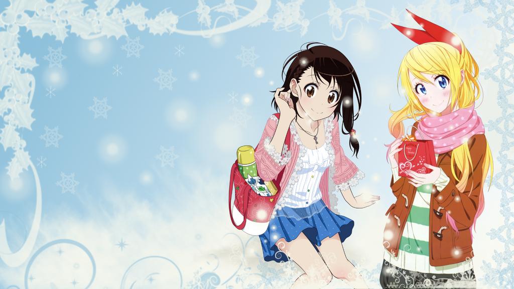 Nisekoi Christmas Wallpaper (Chitoge and Kosaki) by ChihaHime