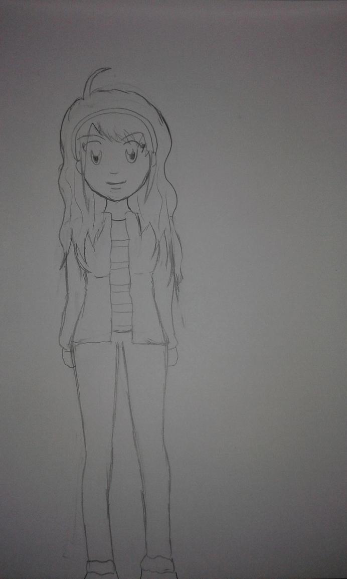 Ayumu Miyazawa OC Sketch by ChihaHime