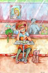 Cafe by gerardMoreau