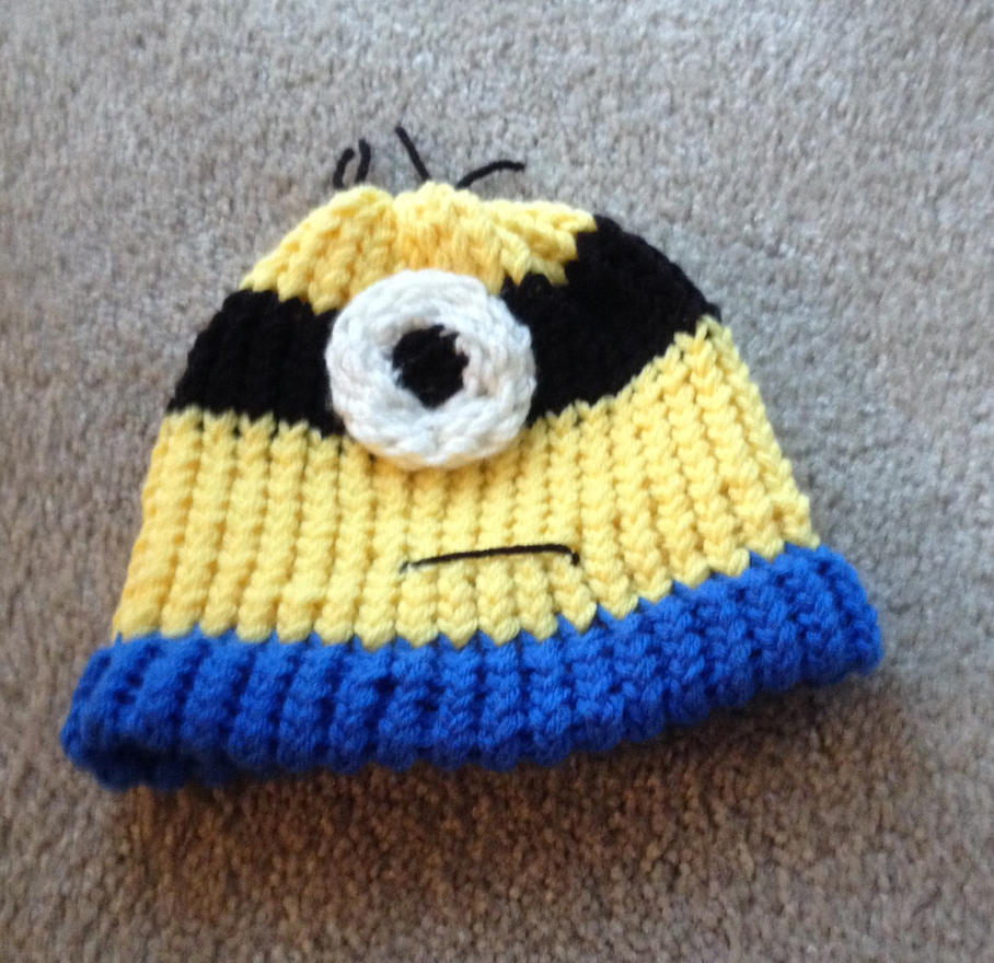 Minion Knit Hat by LishaChan on deviantART