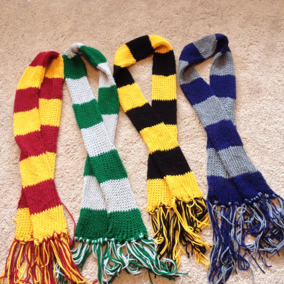 how to make harry potter house scarves