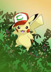 Pikachu Johto Cap - Pokemon Digital Art