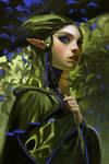 Blue leaf elf