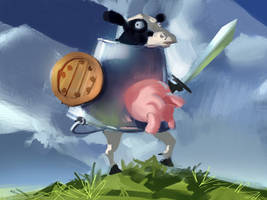 Cow within a bucket by medders
