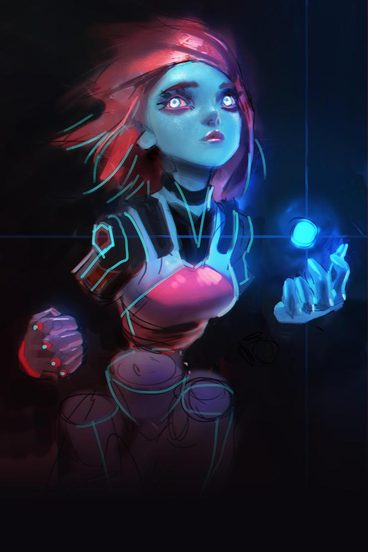 Cyber Girl by medders