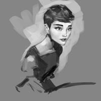 Audrey scribble by medders