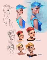 Female hair styles tutorial by medders