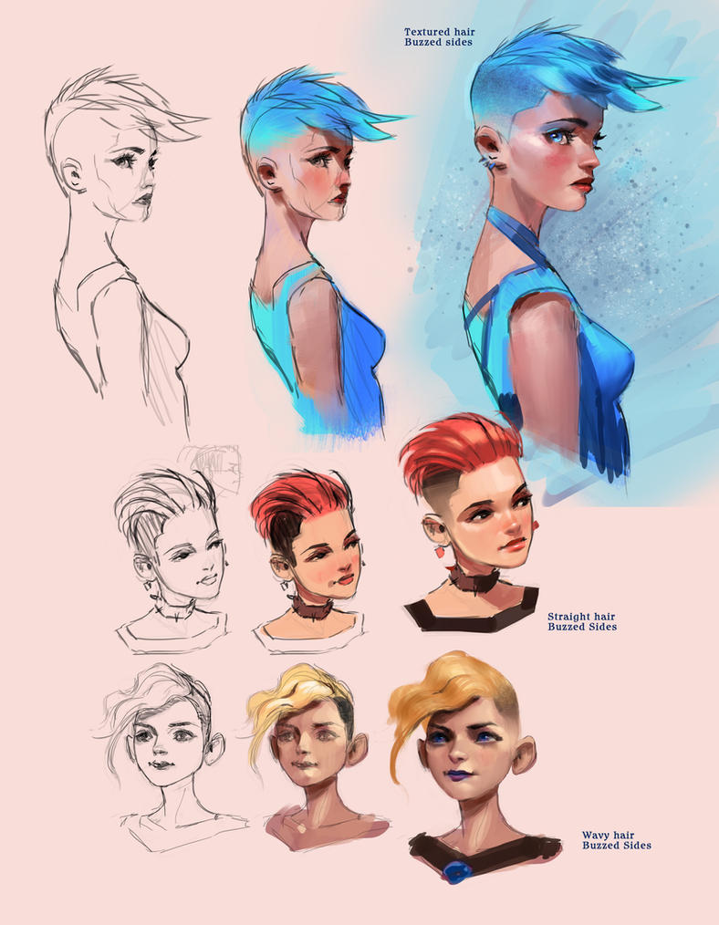 Female Character Design Tutorial : Female hair styles tutorial by medders on deviantart