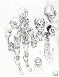Robot sketches by medders