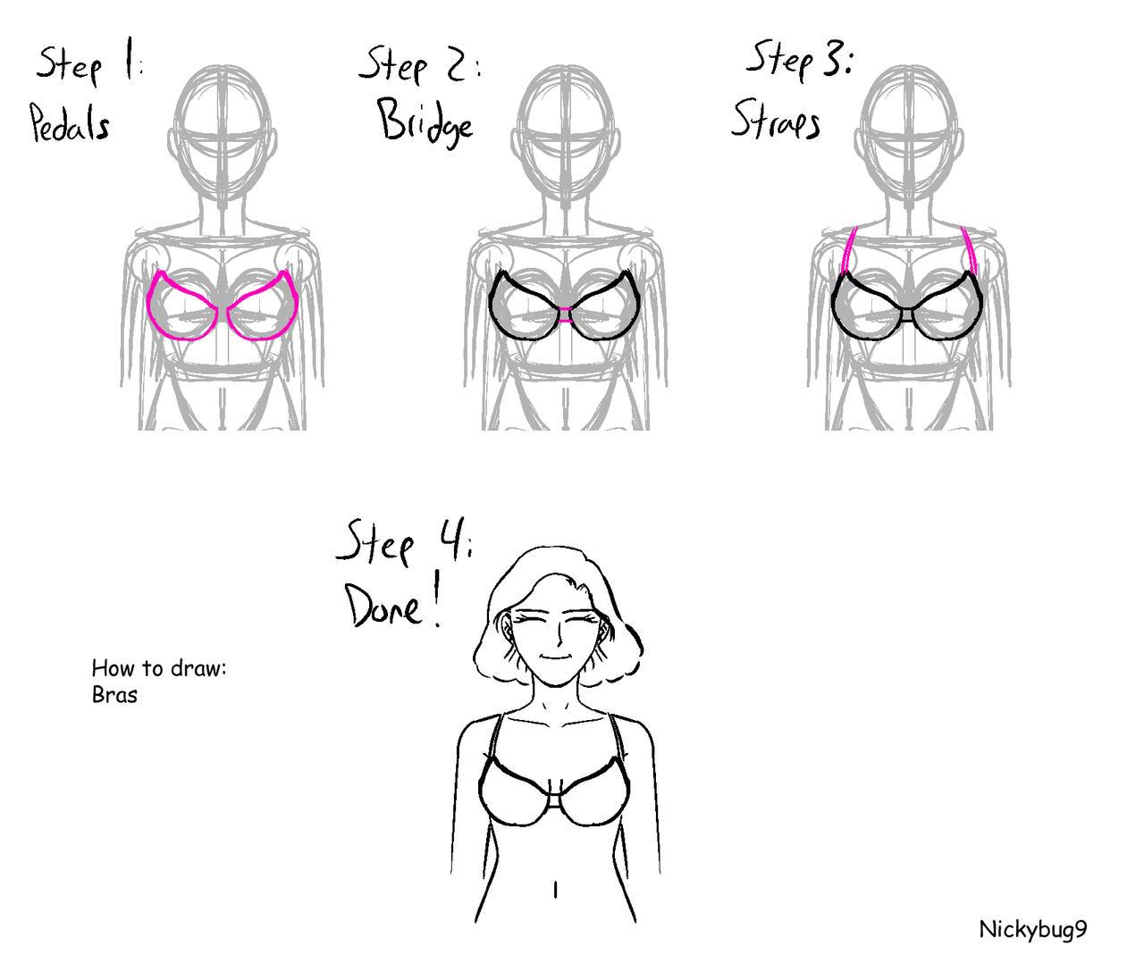 How to draw a Bra: Step-By-Step