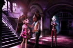 Draculaura,Clawd and Ghoulia