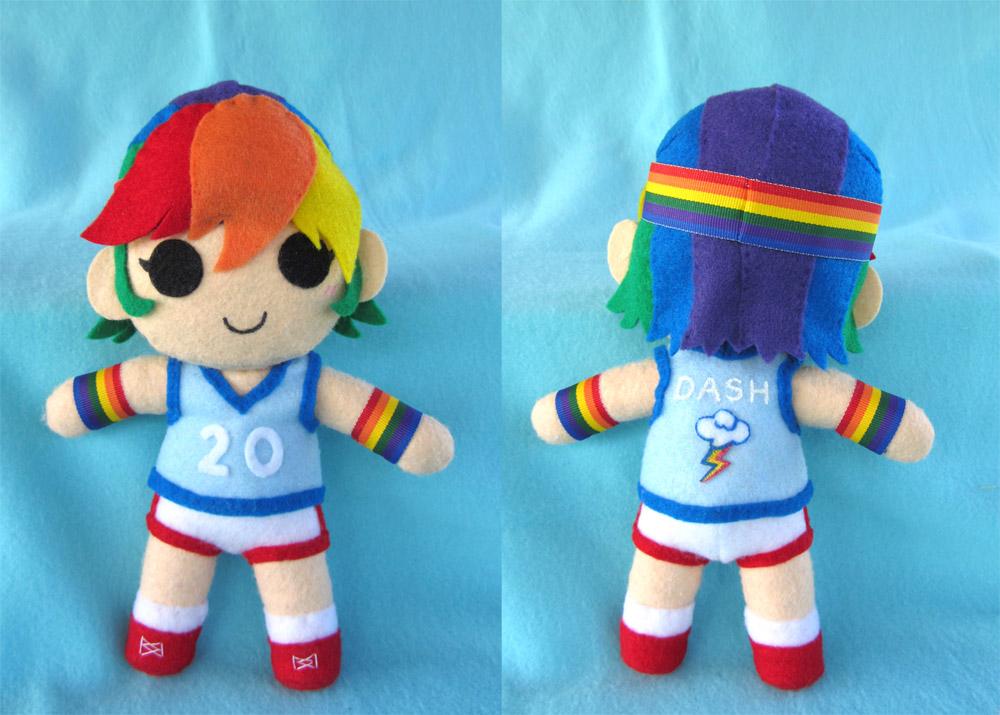 Humanized Rainbow Dash Plush by Tofutastic
