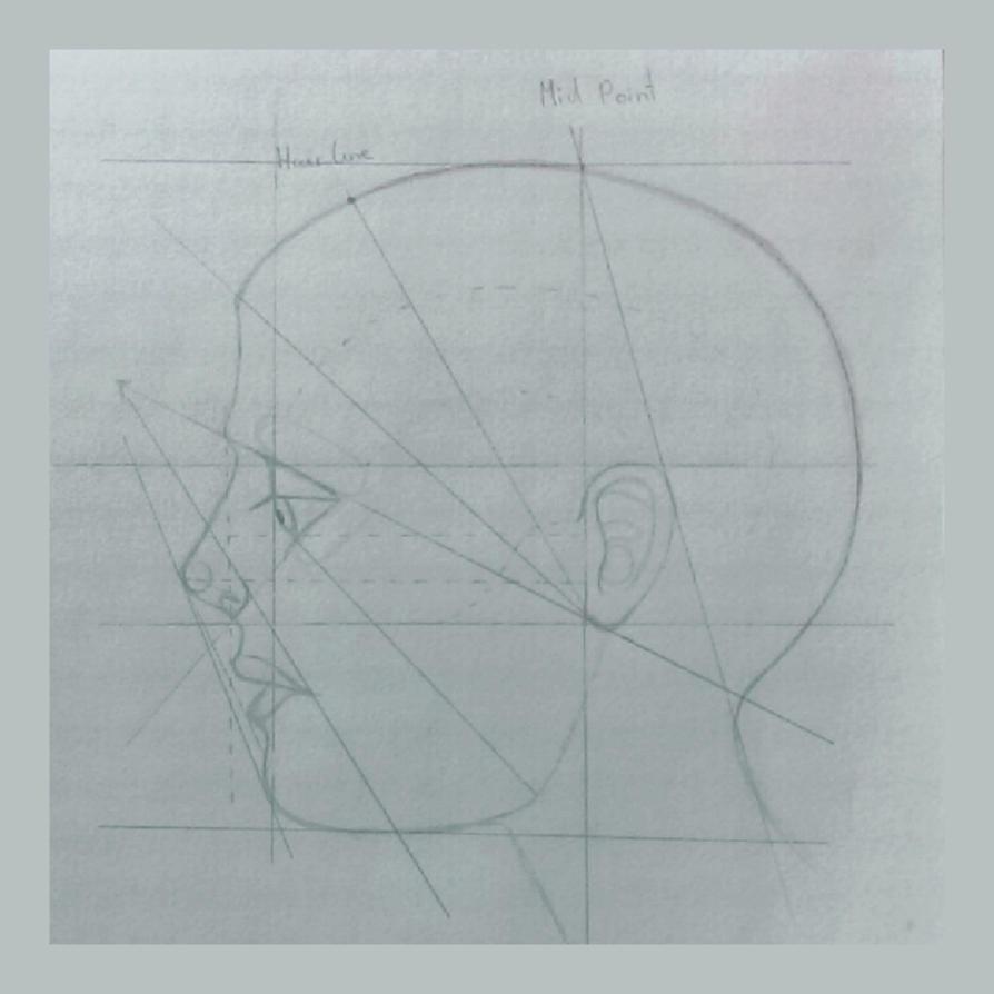 Head sketch by BlueberrysPen