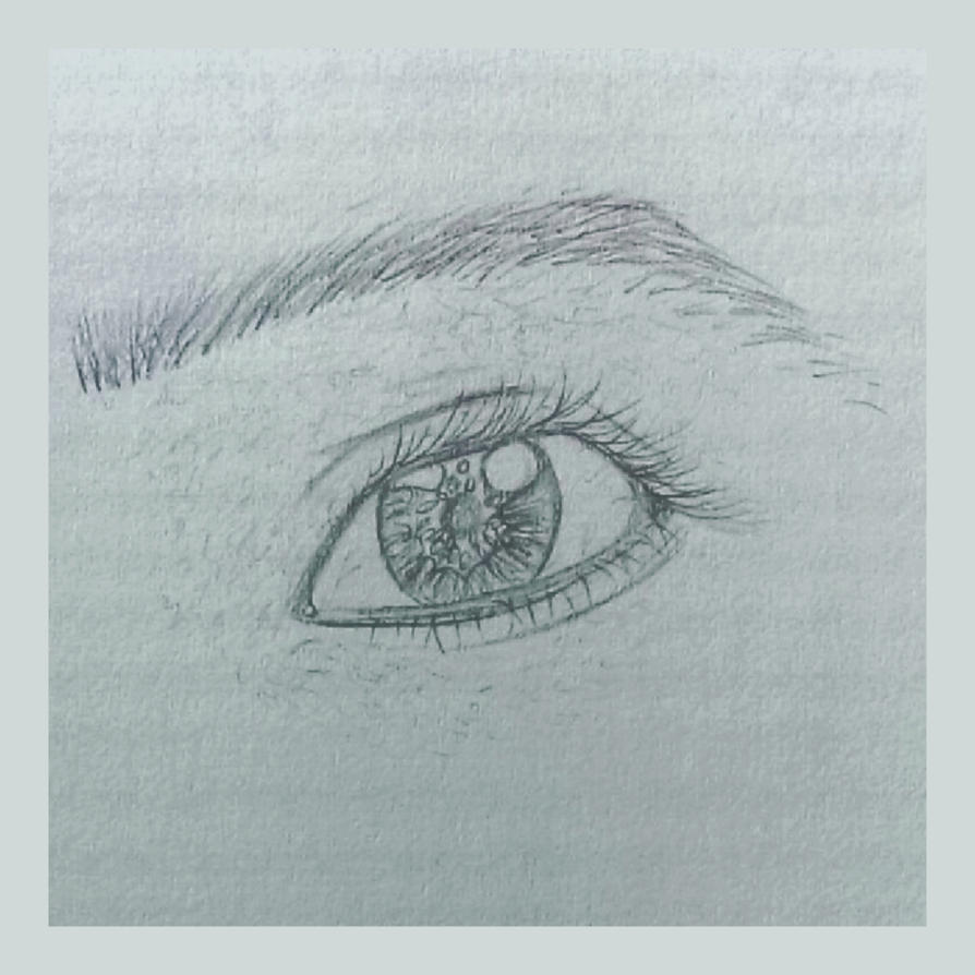 Eye sketch by BlueberrysPen