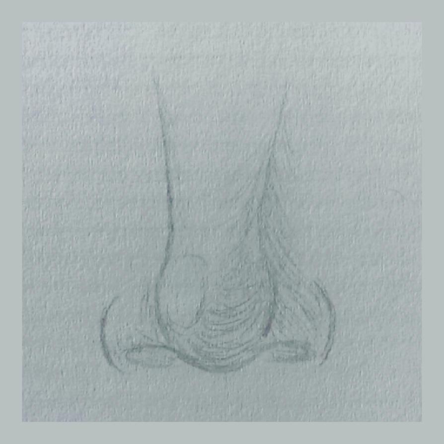 Nose sketch by BlueberrysPen