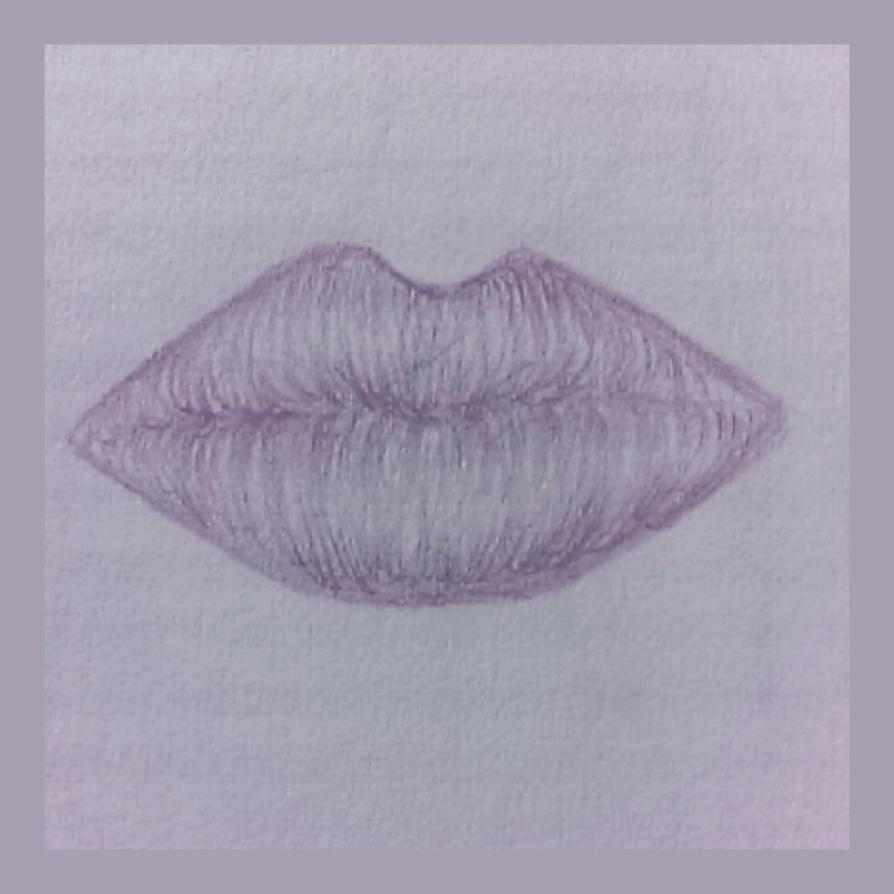 Mouth sketch by BlueberrysPen