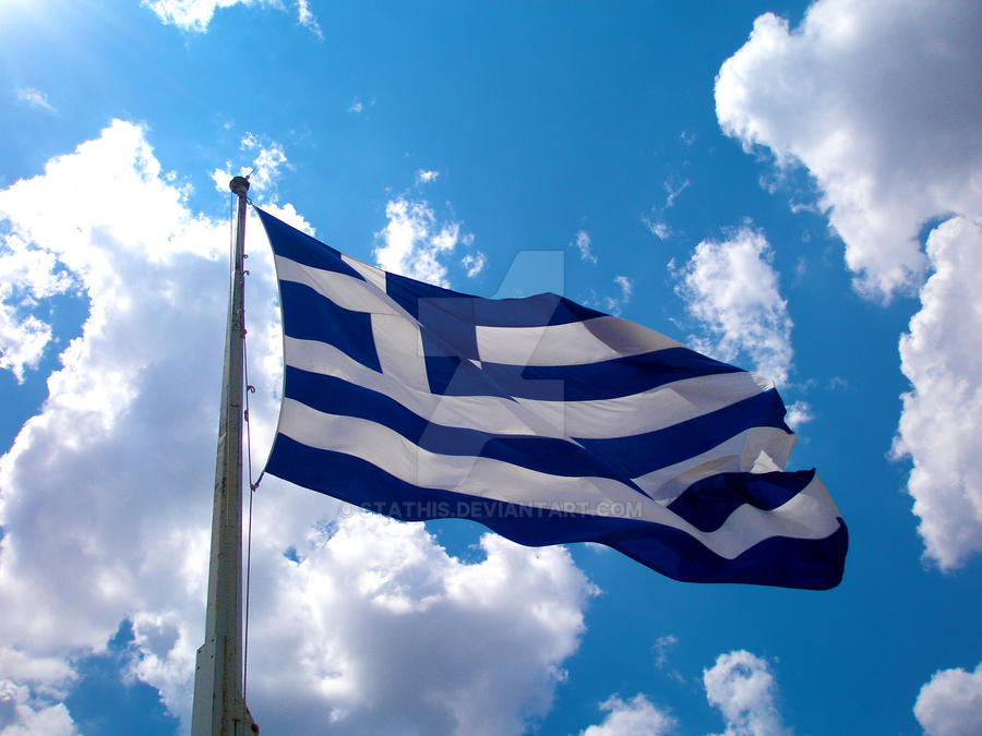 Greek flag by Stathis