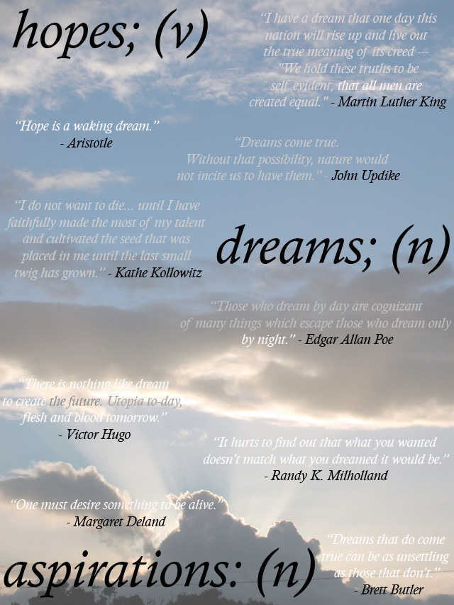 Dreams and aspirations in life essay