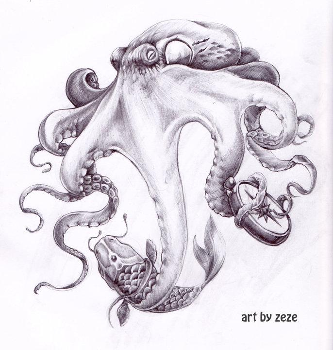 crazy tattoo facts octopus tattoo designs. Black Bedroom Furniture Sets. Home Design Ideas