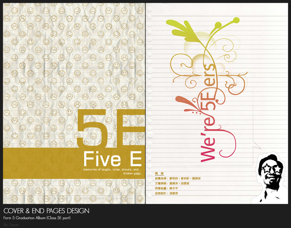Cover and end pages design by sopei on DeviantArt