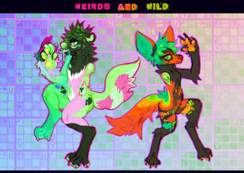 Neon Doggos (CLOSED) by MoggieDelight