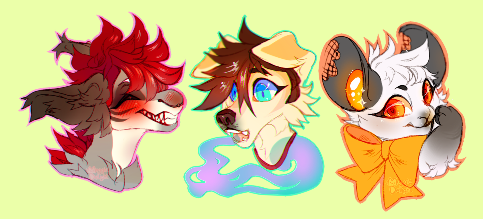 Headshot Commissions 1 by MoggieDelight