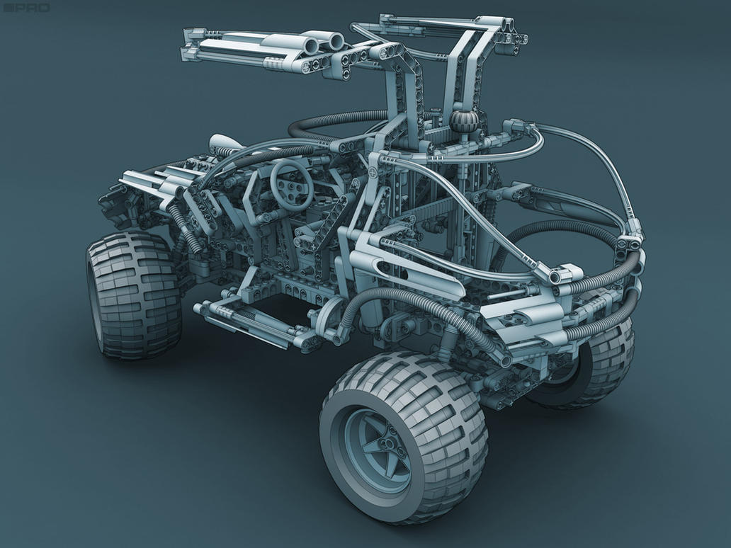 Lego 4x4 OffRoader RearView by pixelquarry
