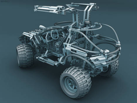 Lego 4x4 OffRoader RearView