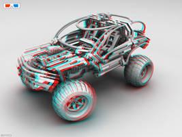 Lego OffRoader for 3D Glasses