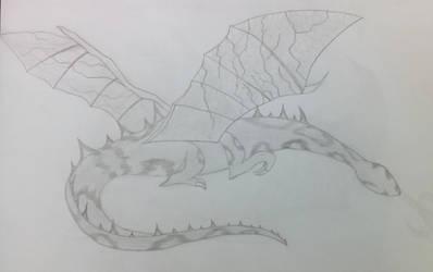 Dragon sketched
