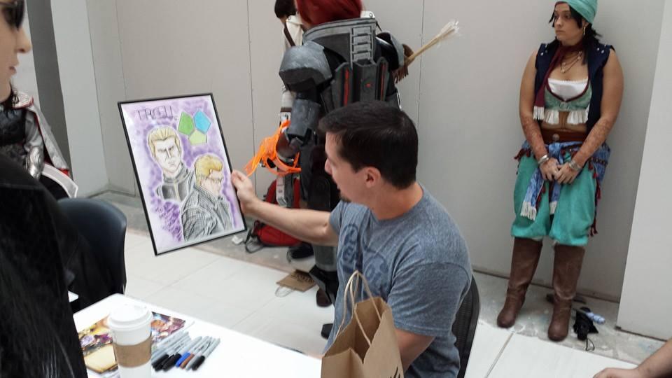 Wesker Gives Wesker Drawing