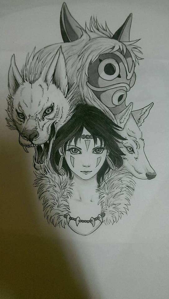Mononoke tattoo design by ColourlessValor on DeviantArt