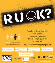 R U OK Day poster by Alanian