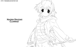 Lineart Nagisa - Clannad