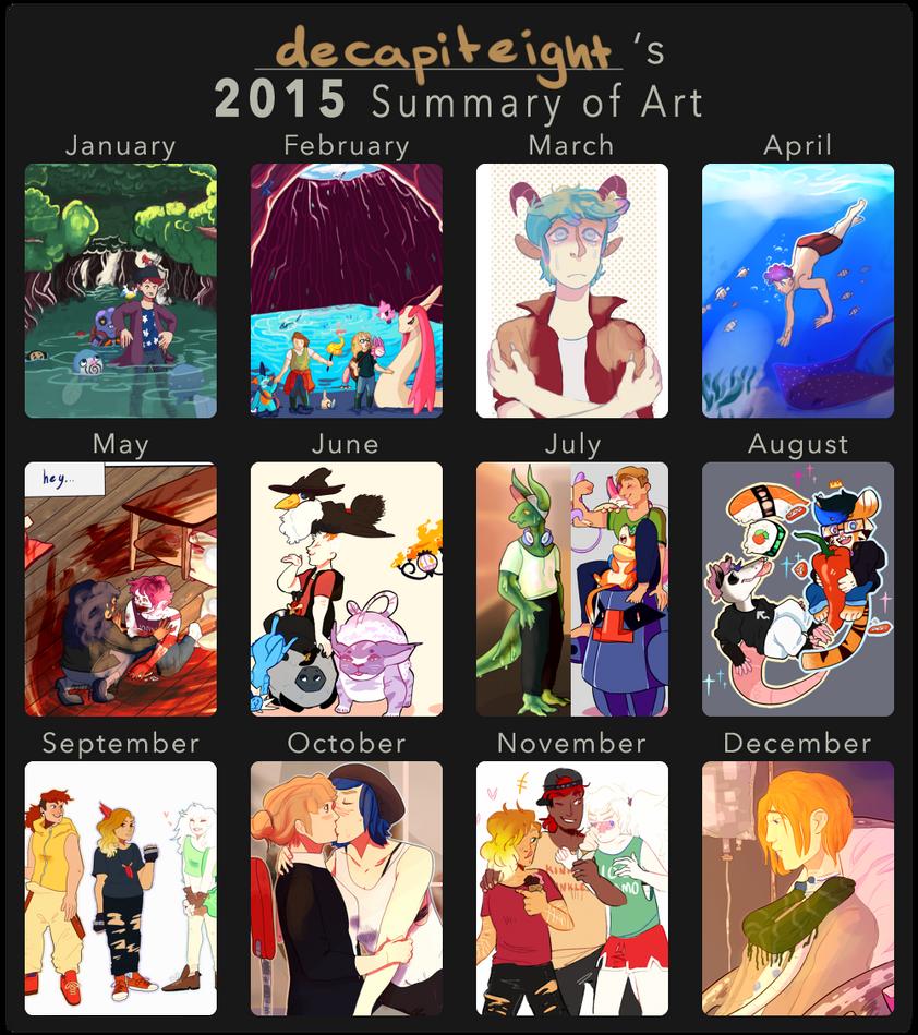 2015 Art Summary by decapiteight
