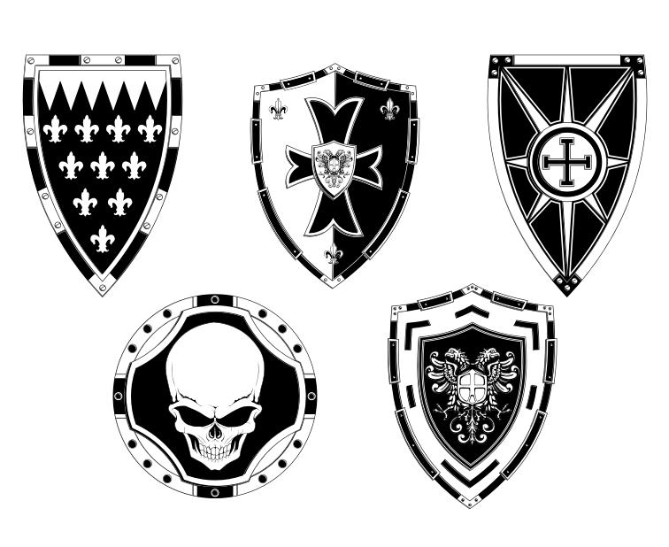 detailed free vector shields by artamp on deviantart rh deviantart com vector shield dab kit victor shieldsbenalder co director