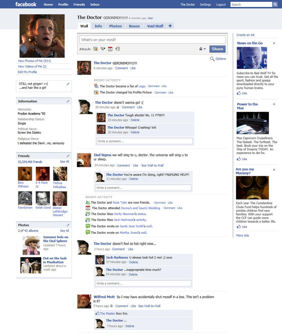 The Doctor's Facebook Page