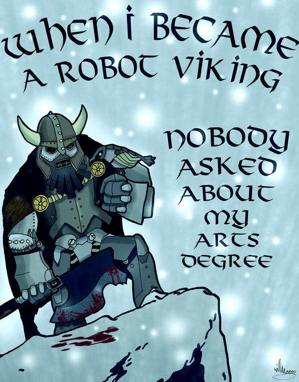 Robot Viking by The-Hellish-Gnome