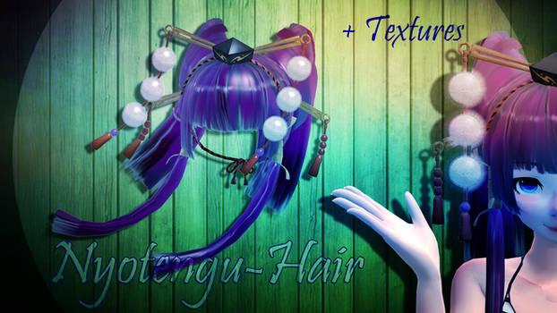 [MMD]-Nyotengu Hair DL.